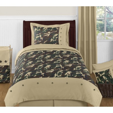 Green Camouflage Comforter Set 4 Piece Twin Size By Sweet Jojo Designs