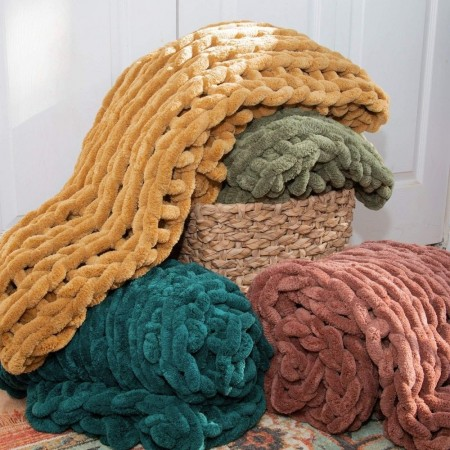 Chenille Chunky Knit Throw