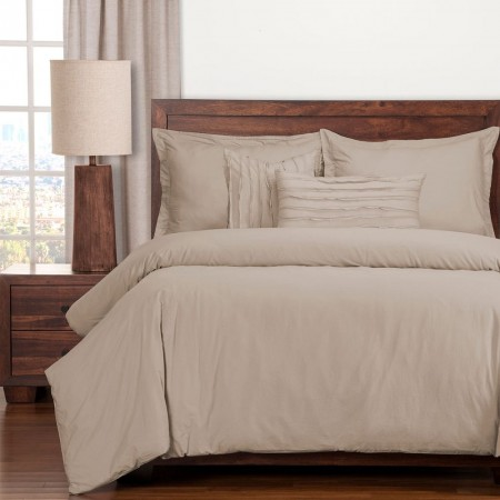 Classic Cotton Almond Bedding Set - Studio Collection