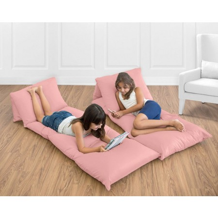 Solid Coral Pillow Case Lounger