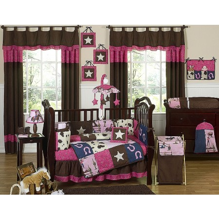 Cowgirl Western 11 Piece Bumperless Crib Set by Sweet Jojo Design
