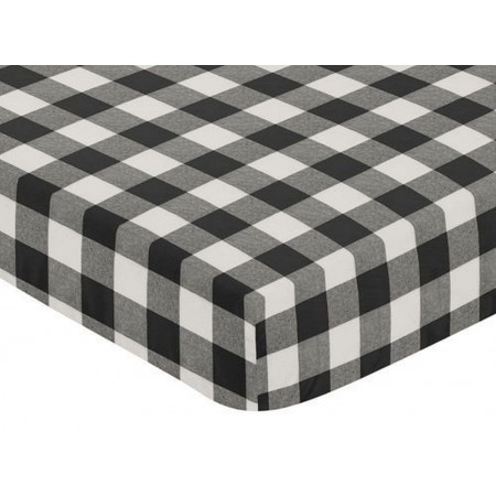 Black & White Buffalo Check Crib Sheet