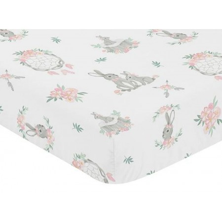 Bunny Floral Crib Sheet