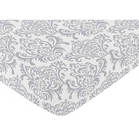 Pink & Gray Elizabeth Crib Sheet