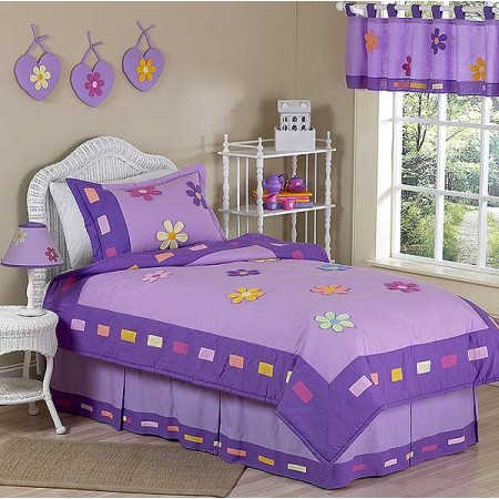 Danielles Daisies Twin Size Bedding Set by Sweet Jojo Designs