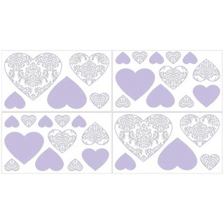 Lavender & Gray Elizabeth Wall Decals