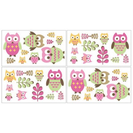 Happy Owl Wall Decals