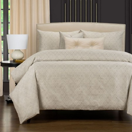 Deco Platinum Comforter Set - - F. Scott Fitzgerald Primo Collection