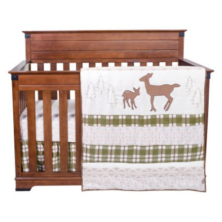 Deer Lodge 3 Piece Crib Bedding Set