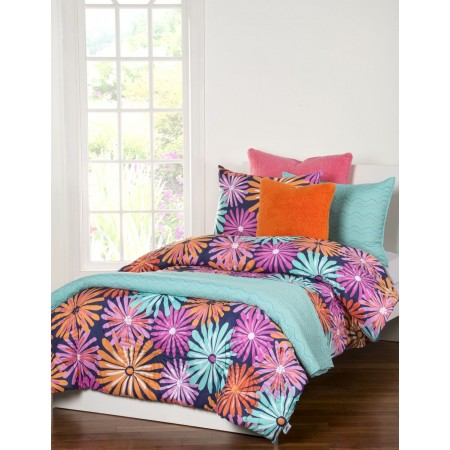 Crayola Dreaming of Daisies Bunk Bed Cap Comforter Set - Twin Size  - Includes 1 Sham