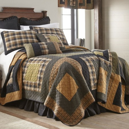 Forest Square  King Size Quilt  -  110  X  96