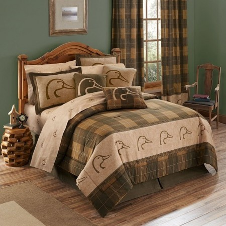 Ducks Unlimited Plaid Comforter Set - King Size *