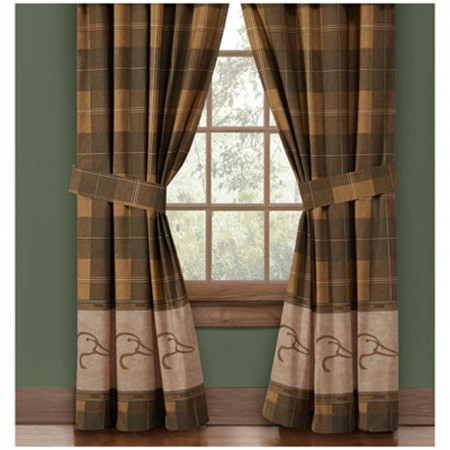 Ducks Unlimited Plaid Drapes