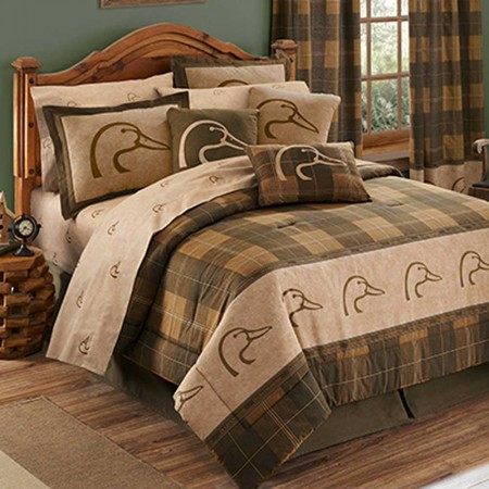 Ducks Unlimited Plaid Comforter Set - King Size