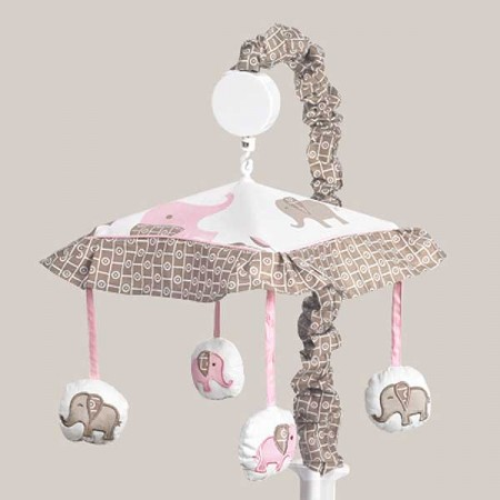 Elephant Pink & Taupe Mobile