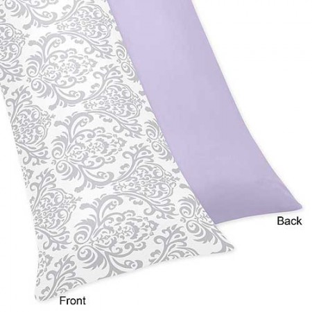 Lavender & Gray Elizabeth Body Pillow Cover