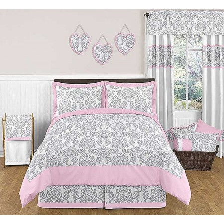 Elizabeth Pink & Gray Full/Queen Size Comforter Set by Sweet Jojo Designs