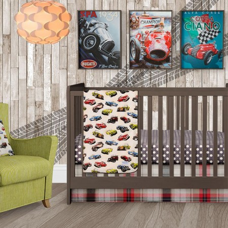 Fast Track 3 Piece Crib Bedding Set