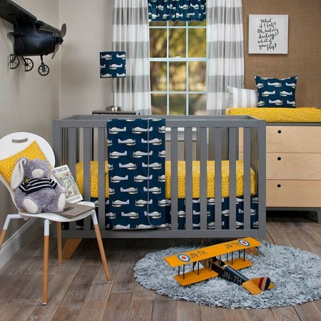 First Flight 3 Piece Crib Bedding