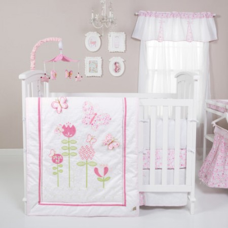 Floral Fun 6 Piece Crib Bedding Set