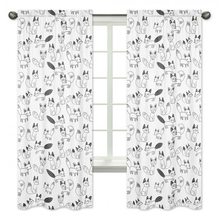 Fox Black & White Window Panels