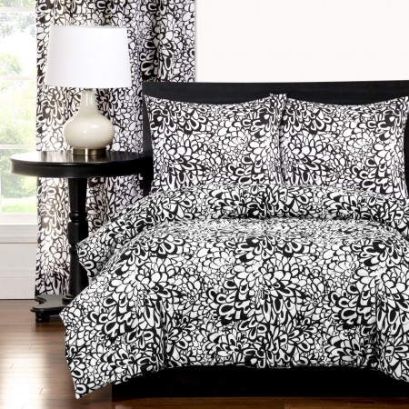 Graphic Blooms Comforter Set
