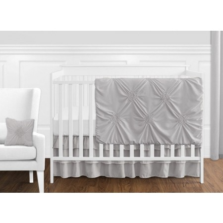 Grey Harper Crib Bedding Set by Sweet Jojo Designs - 11 piece Bumperless