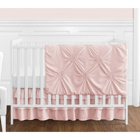 Blush Pink Harper Crib Bedding Set by Sweet Jojo Designs - 4 piece