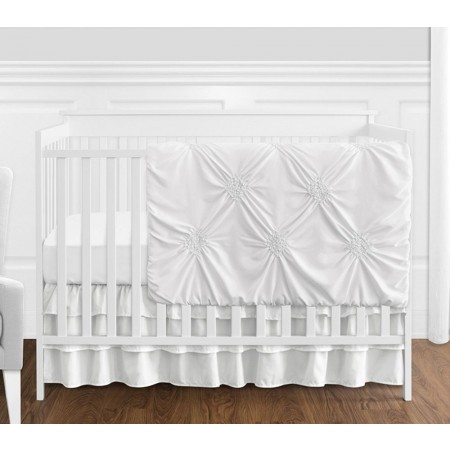 White Harper Crib Bedding Set by Sweet Jojo Designs - 4 piece