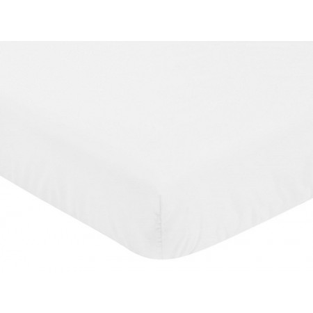 White Harper Crib Sheet