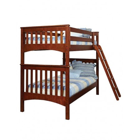 Hayden Light Blue/Cream Striped Bunkbed Hugger - Twin Size