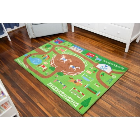 Horse Play Olive Kids Play Rug