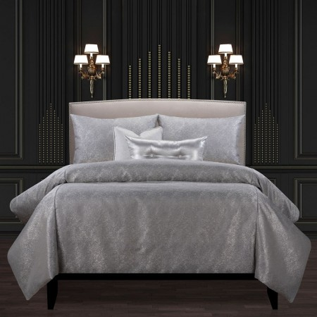 Jazz Club Silver Comforter Set - F. Scott Fitzgerald Bedding Collection