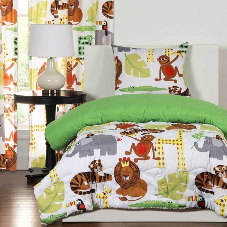 Jungle Love Comforter Set from Crayola