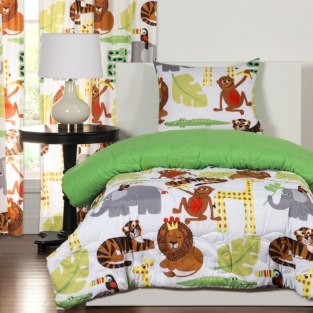 Jungle Love Bunk Bed Cap Comforter Set from Crayola  - Includes Sham(s)