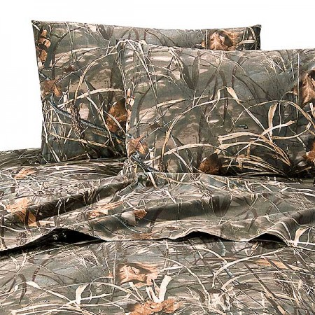 Realtree Max-4 Camouflage Sheet Set  - Twin Size