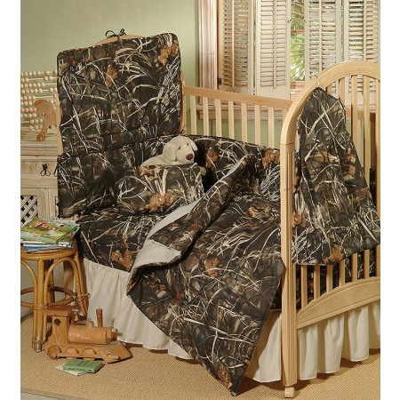 Realtree Max-4 Camouflage Crib Bedding Set - 3 Piece