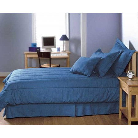 Blue Jean Denim Duvet Covers - Twin Size - Dark Indigo (Reverses to Denim)
