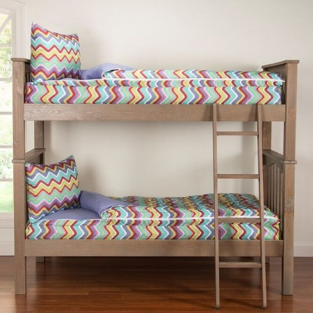 Crayola Mixed Palette Twin Size 2 Piece Bunkie Set - Closeout