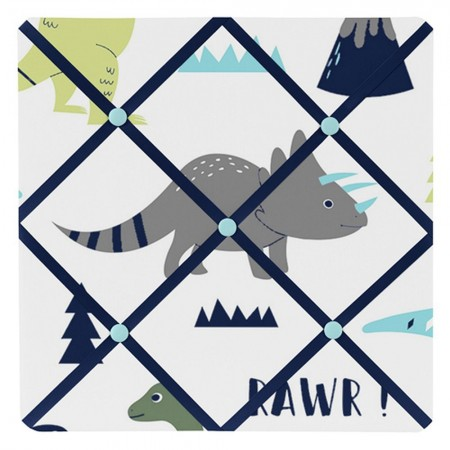 Mod Dinosaur Blue & Green Fabric Memo Board
