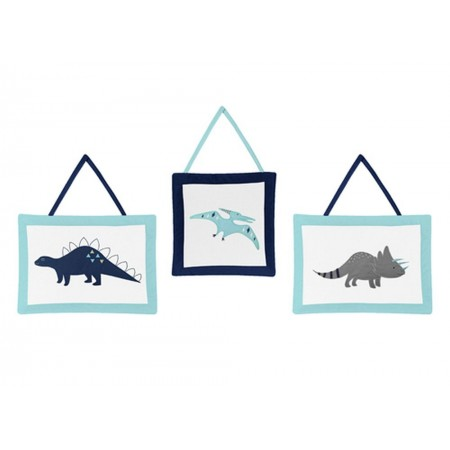 Mod Dinosaur Blue & Green Wall Hanging