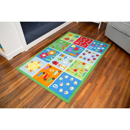 Counting Garden Olive Kids Play Rug