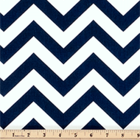 Zig-Zag Print Bunkbed Hugger with 4 Fitted Corners by California Kids - Navy Blue & White