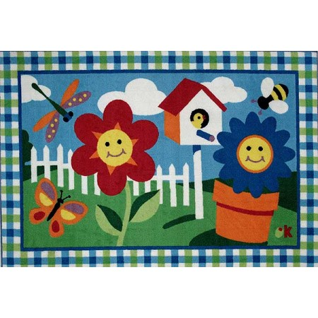 Olive Kids Happy Flowers Rug from Fun Rugs