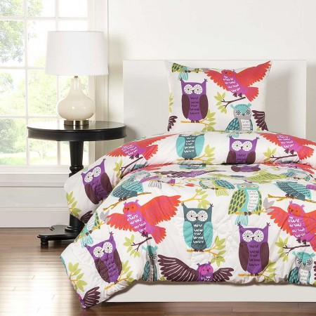 Crayola Owl Always Love You Comforter Set - Twin Size