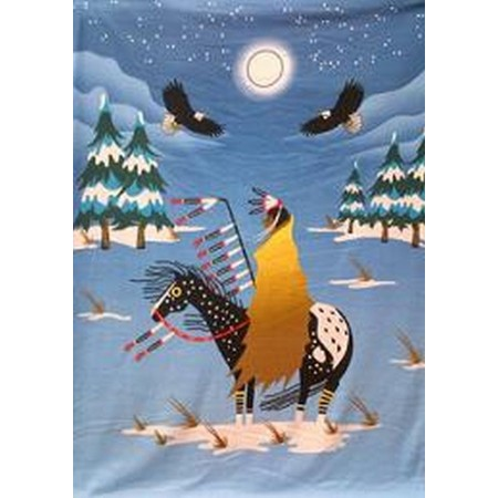 Winter Warrior Polar Fleece Throw Blanket
