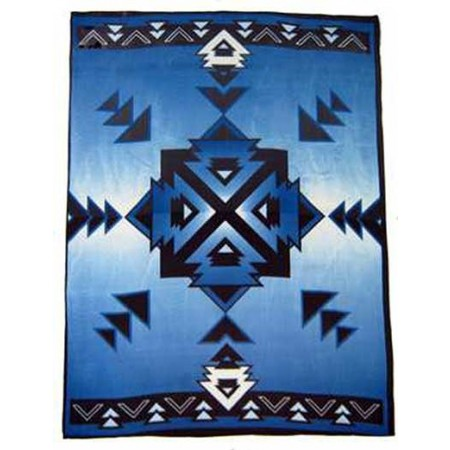 Hogan Royal Blue Polar Fleece Throw Blanket