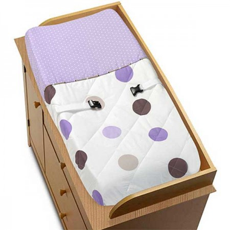 Lavender Mod Dots Changing Pad Cover