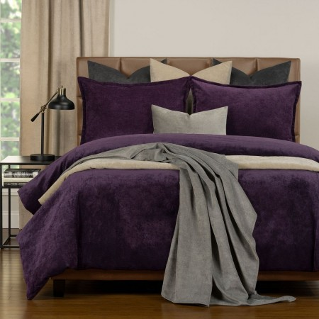 Duvet Cover Set from the Mixology Collection - Twin Size - Aubergine
