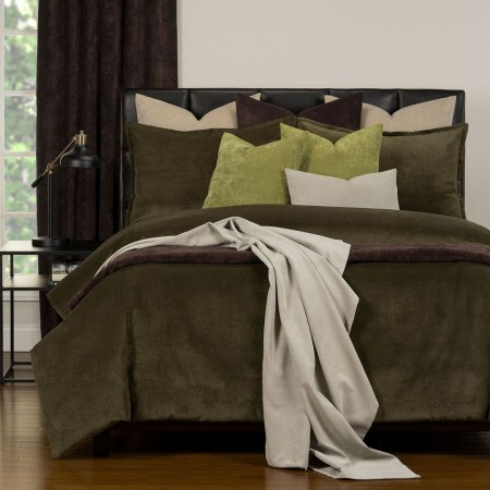 Duvet Cover Set from the Mixology Collection - King Size - Chive
